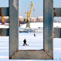 Sunny winter day in frame солнечный зимний день в рамке