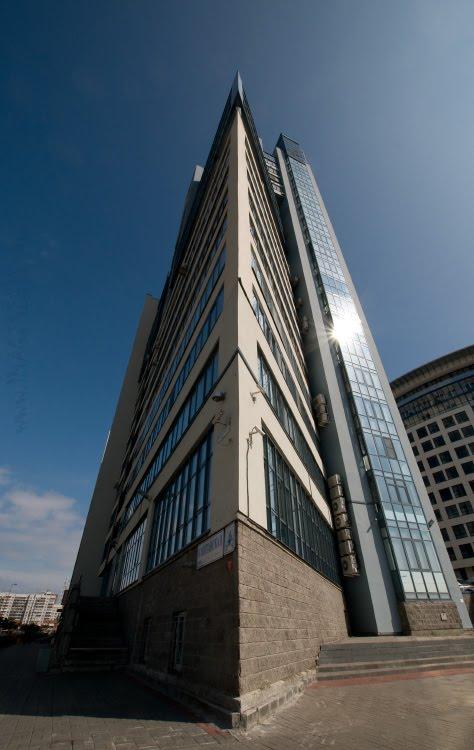 rostrum of contemporary building ростра современного здания автор Демидов Игорь