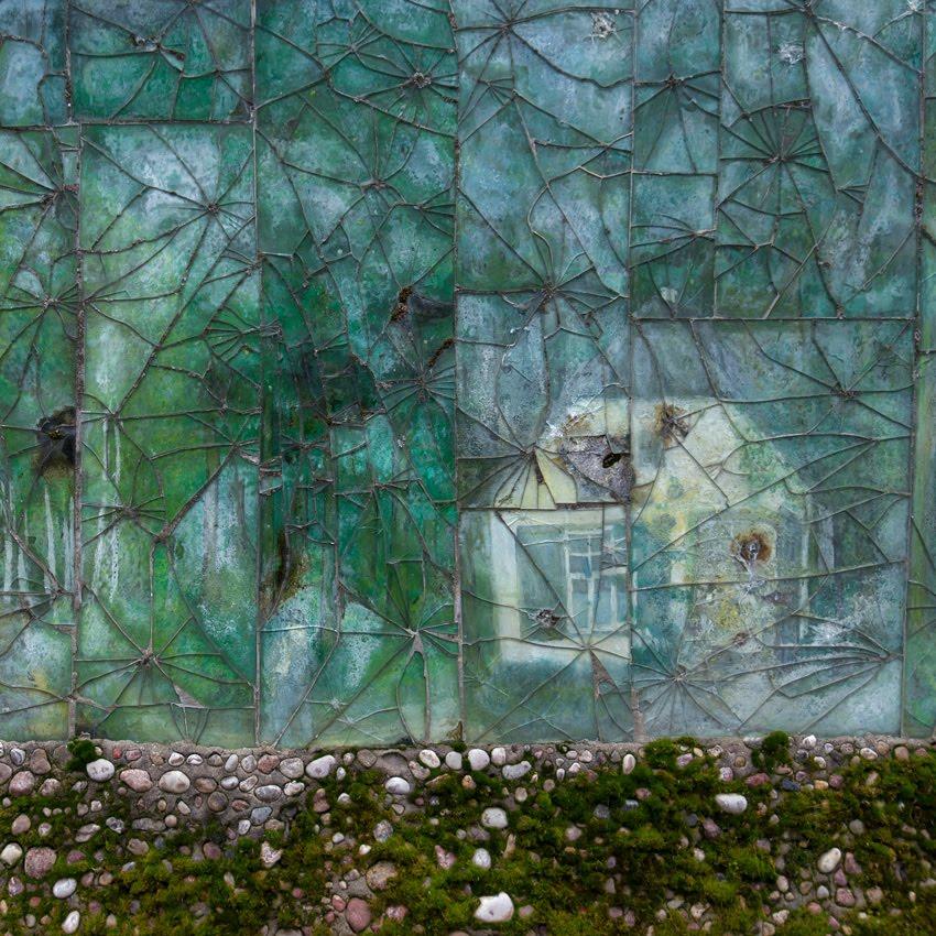 стена дом трещины патина автор Демидов Игорь house cracks mosaic