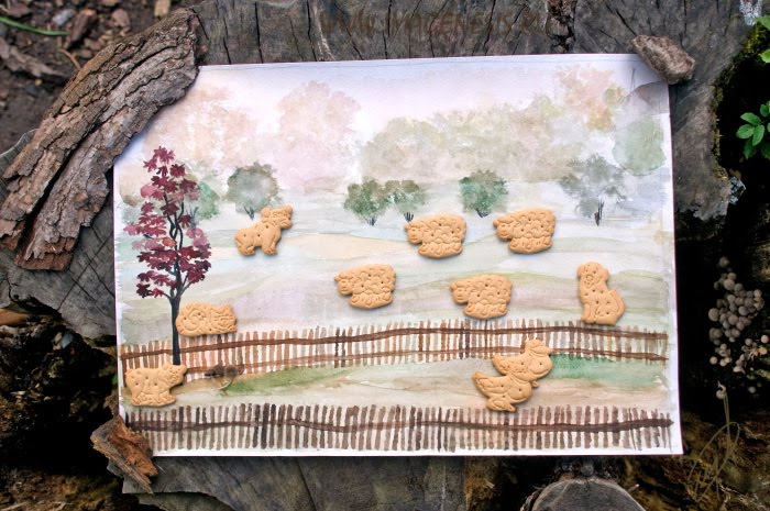 farm pet painting cookies tree wood Igor Demidov clarity ферма печенье рисунок пень дерево