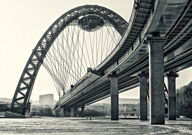 Zhivopisniy bridge Живописный мост в Москве автор Демидов Игорь