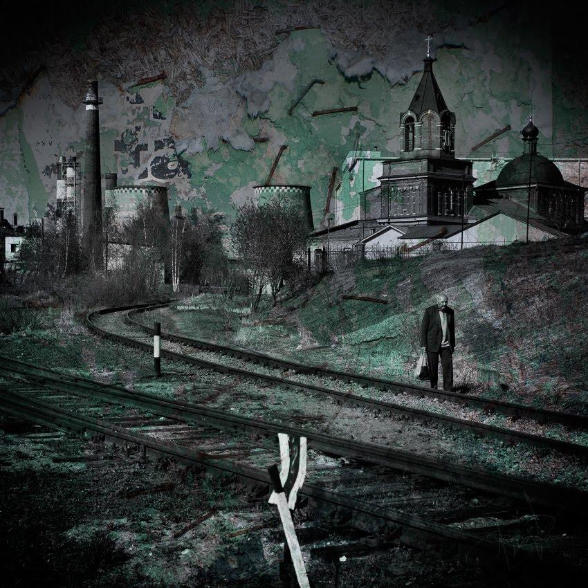 under ragged skies church chimneys old man под рваными небесами церковь трубы ТЭЦ старик автор фото Демидов Игорь