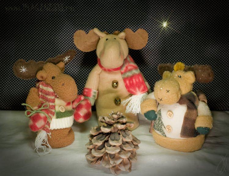 волхвы ночь звезда сочельник рождество лес шишка олени magi night star Christmas Eve cone deer автор Демидов Игорь