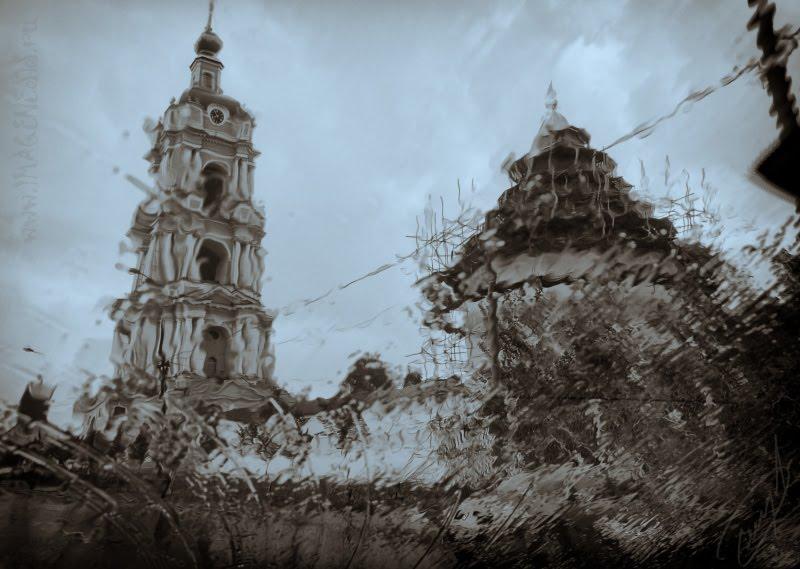 monastery rain on the wind shield монастырь сквозь дождь на лобовом стекле автор Демидов Игорь