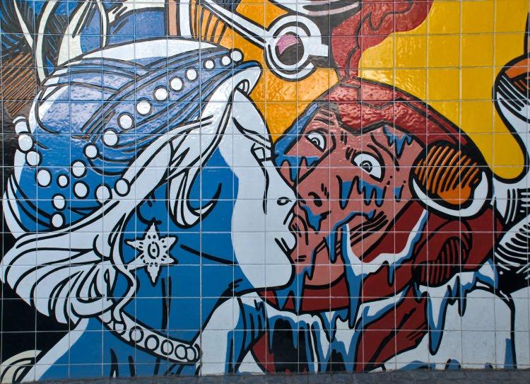 ice cold kiss blizzard snow queen superhero последний холодный леденящий поцелуй снежная королева заморозка супергерой автор фото Демидов Игорь граффити искусство улиц Португалия Лиссабон Portugal Lisbon street art graffiti