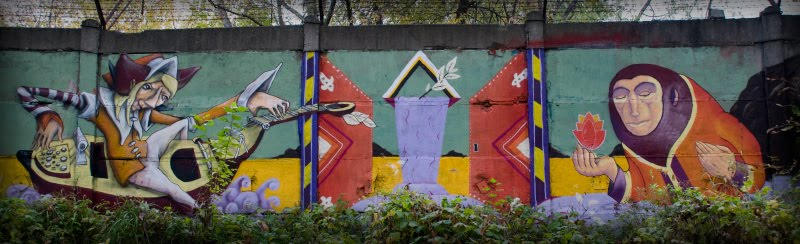 граффити менестрель монах магдалина море цветок minstrel monk fire flower фото Игоря Демидова
