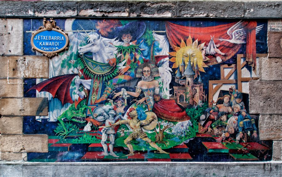 Bilbao fantasy graffiti street art fairy-tales сказки Бильбао рисунки на стене уличное искусство mural painting автор фото Демидов Игорь