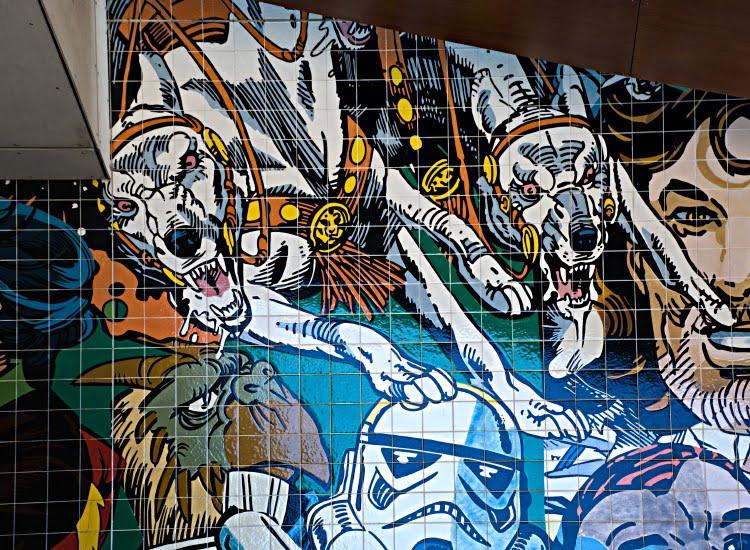 angry dogs злые псы автор фото Демидов Игорь граффити искусство улиц Португалия Лиссабон Portugal Lisbon street art graffiti