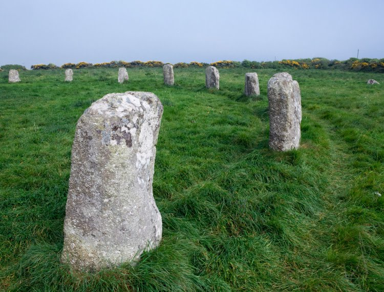 merry maidens cornwall standing rocks весёлые девы круг камней в Корнуэле автор Демидов Игорь