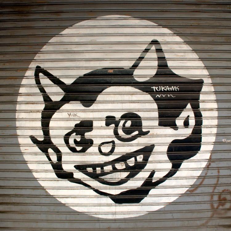 Насмешник рогатый уличное искусство граффити автор фото Демидов Игорь street art graffiti mocker with small horns