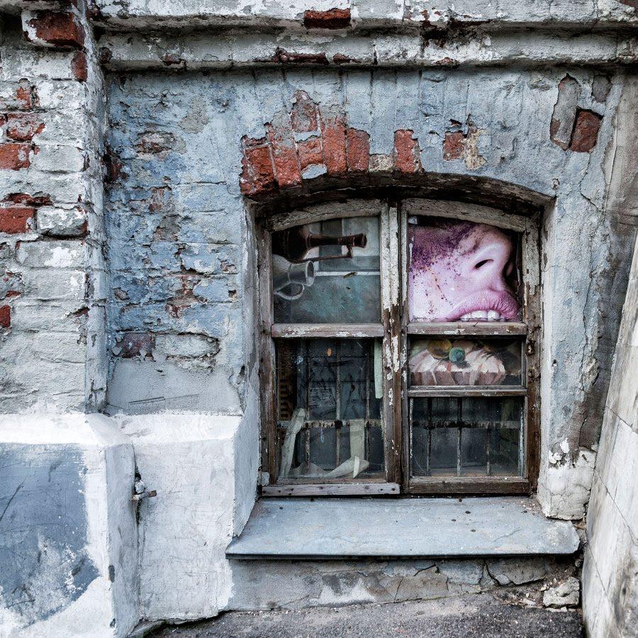 укус окно кирпич стена автор фото Демидов Игорь the bite window wall