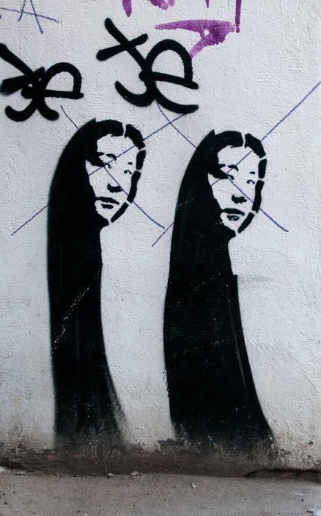двойное женское лицо уличная картинка граффити автор фото Демидов Игорь double woman face graffiti street art