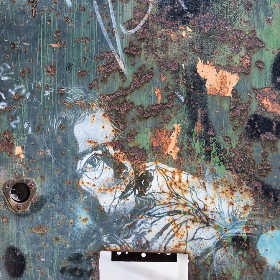 graffiti street art rust face уличное искусство ржавчина портрет автор фото Демидов Игорь