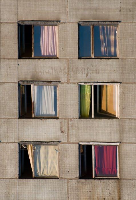 colourful windows in the summer evening цветные окна летним вечером автор Демидов Игорь