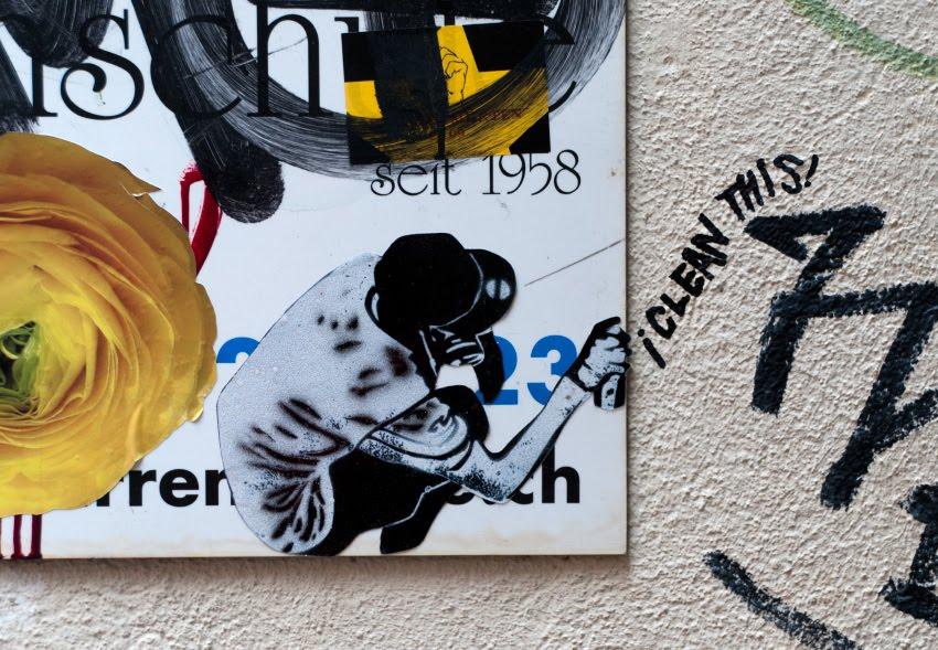 i clean this street art graffiti mural painting графити уличное искусство бумажная наклейка я сотру это автор фото Демидов Игорь
