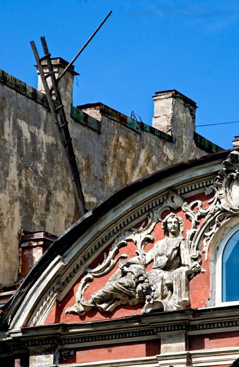 building faсade baroque constructivism фасад барочного здания на фоне конструктивизма автор Демидов Игорь
