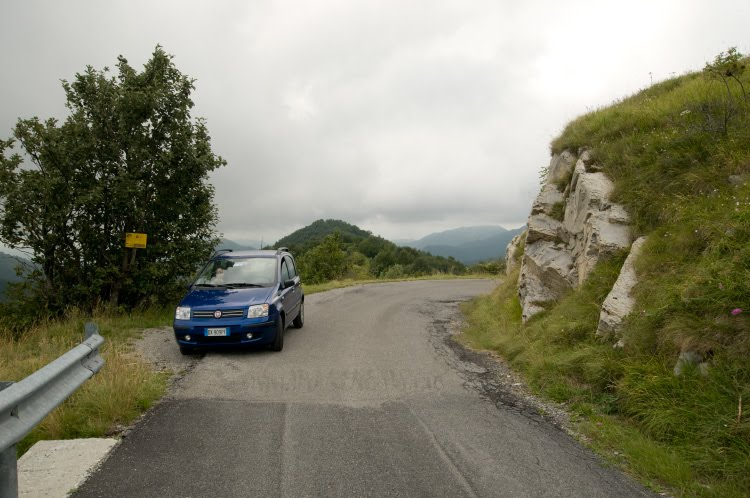 fiat panda om mountain road фиат панда на горной дороге автор Демидов Игорь