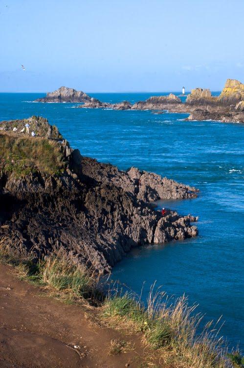 Мыс pointe du grouin sea cliffs скалы прибрежные море Автор Демидов Игорь