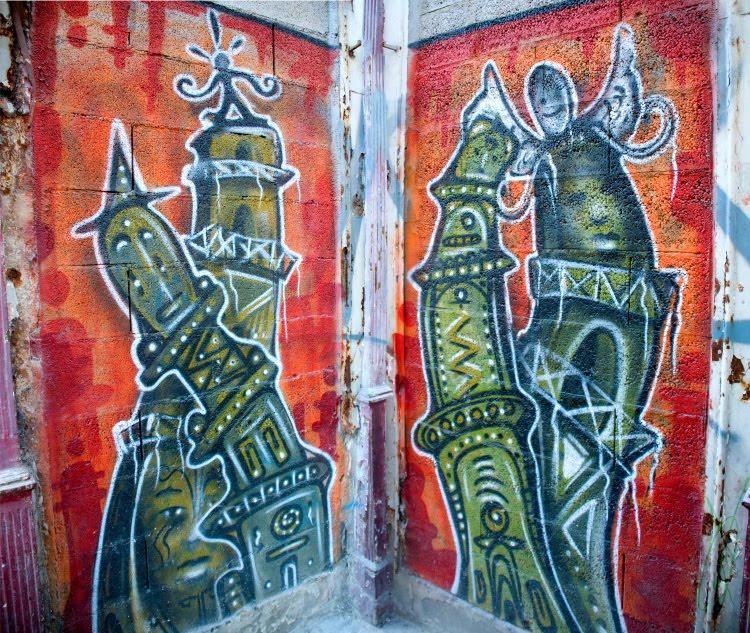 two towers diptych Две башни - диптих автор Демидов Игорь графити настенная живопись уличное искусство mural paintings
