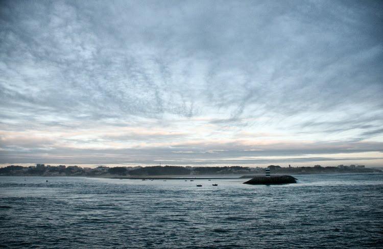 Porto sunset evening sea вечер закат солнца в Порто океан спокоен автор Демидов Игорь