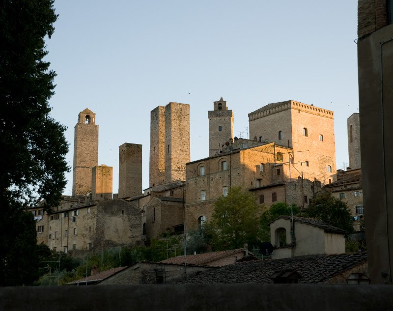 башни сан Джиминиано на закате автор Демидов Игорь San Gimignano towers at sunset