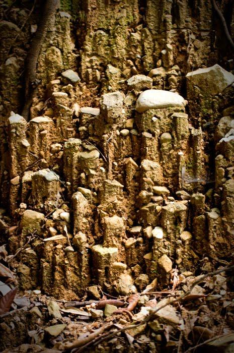 сталактит земля камень колонна пьедестал автор Демидов Игорь stalagmite soil rocks ground errosion