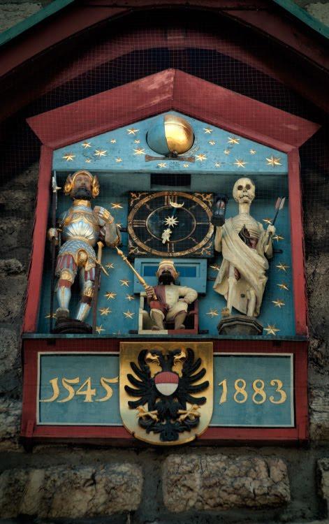 часы смерть время скелет стрела рыцарь Золотурн автор фото Демидов Игорь Solothurn death clock knight time