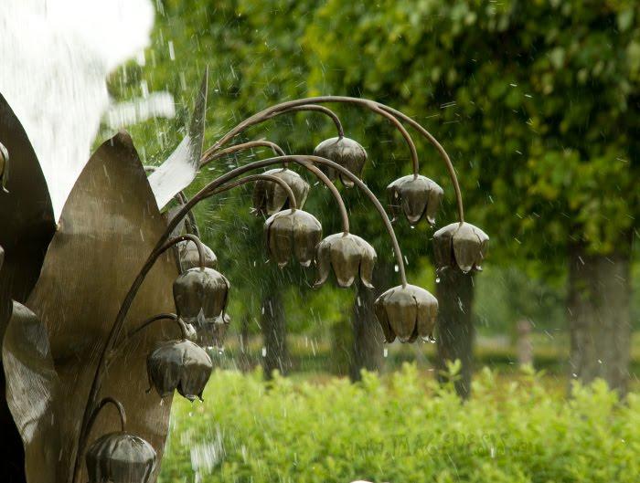 lily nof the valley fountain фонтан ландыши в Стрельне