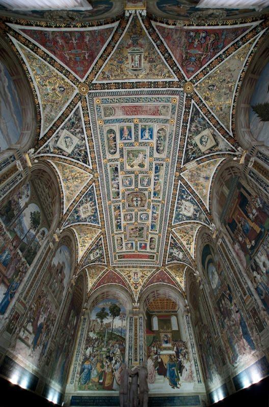 Великолепный мозаичный потолок библиотеки собора Сиены автор Демидов Игорь Siena cathedral library ceiling